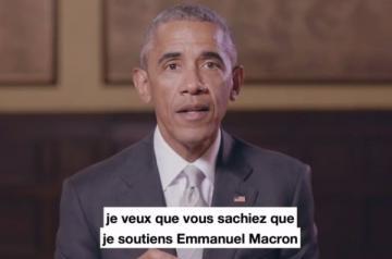 News News Obama soutient Macron dans une vidéo